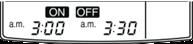 zaman ayarı otomatik başlatma (on) ve bitirme (off) tuşu 2
